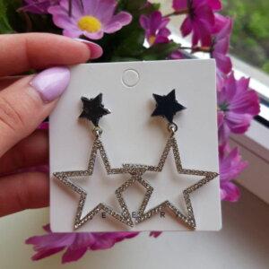 """Didelės žvaigždės formos Auskarai """"Žvaigždės"""""""