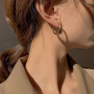 Sidabriniai minimalistiniai geometriniai auskarai