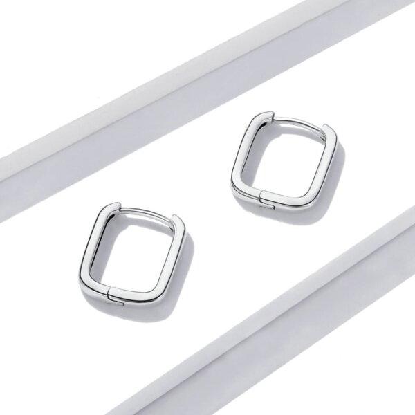 Sidabriniai kvadratinės formos auskarai-4