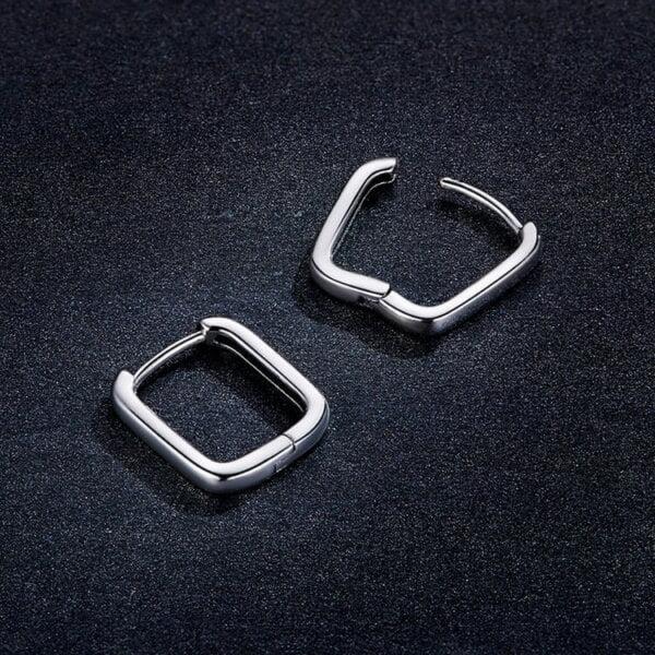 Sidabriniai kvadratinės formos auskarai-7