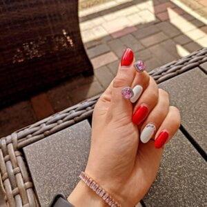 Prabangūs rožinio akmens auskarai-3
