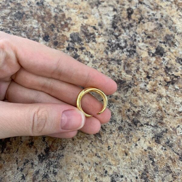 Sidabrinis elegantiškas persipinusių juostų žiedas-6