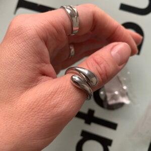 Sidabrinis korėjietiškas madingas žiedas-2
