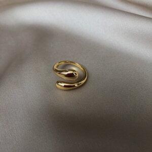 Sidabrinis korėjietiškas madingas žiedas-5