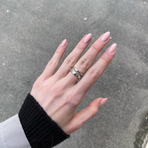 Sidabrinis madingas apvalus žiedas-1