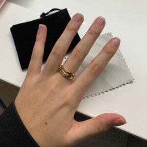 Sidabrinis madingas apvalus žiedas-3