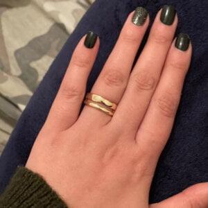 Sidabrinis madingas apvalus žiedas-4