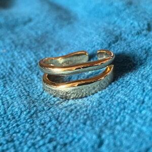 Sidabrinis madingas apvalus žiedas-6
