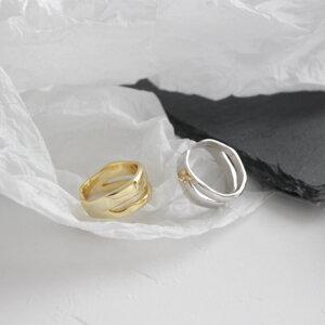 Sidabrinis madingas apvalus žiedas-9