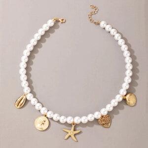 Daugiasluoksnis perlų pakabukas summer mix-1.1