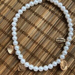 Daugiasluoksnis perlų pakabukas summer mix-4