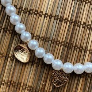 Daugiasluoksnis perlų pakabukas summer mix-5