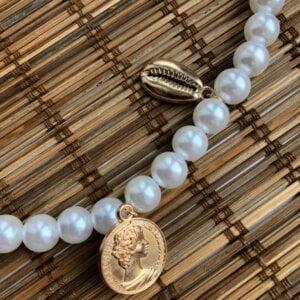 Daugiasluoksnis perlų pakabukas summer mix-6