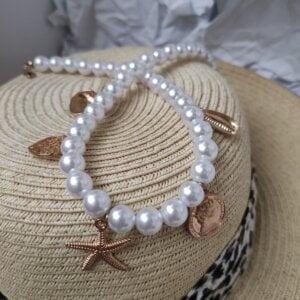 Daugiasluoksnis perlų pakabukas summer mix-7