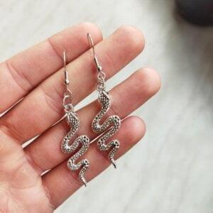 Gyvatės formos auskarai-4