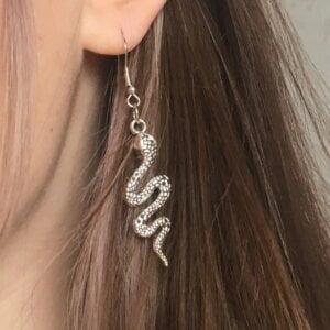 Gyvatės formos auskarai-9