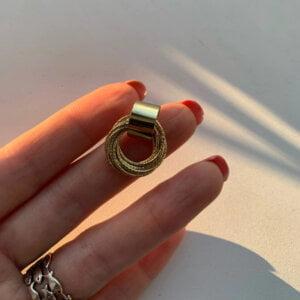 Auksiniai kelių mažų apskritimų auskarai-2