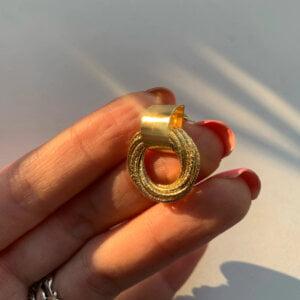 Auksiniai kelių mažų apskritimų auskarai-3