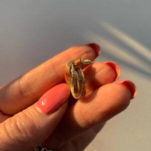 Auksiniai kelių mažų apskritimų auskarai-4