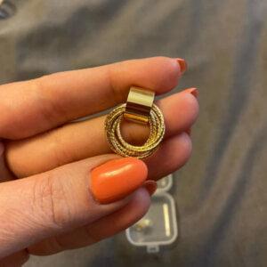 Auksiniai kelių mažų apskritimų auskarai-5