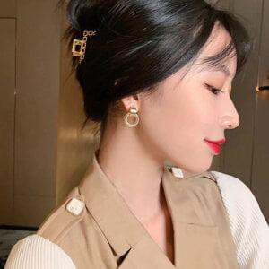 Auksiniai kelių mažų apskritimų auskarai-9
