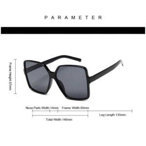 Dideli kvadratiniai akiniai nuo saulės-8