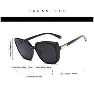Retro mados katės akių formos akiniai nuo saulės-7
