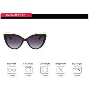 Vintažiniai katės akių formos akiniai nuo saulės-3-4