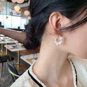 Elegantiški perlų auskarai-1