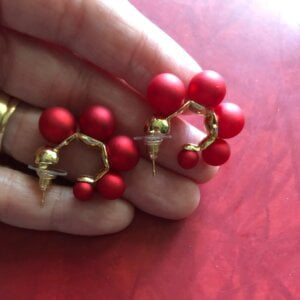 Elegantiški perlų auskarai-10