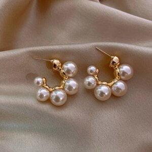 Elegantiški perlų auskarai-11