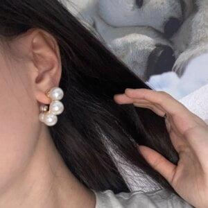 Elegantiški perlų auskarai-5
