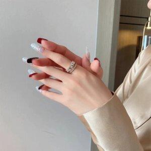 Prabangus cirkonio ir aukso žiedas-5